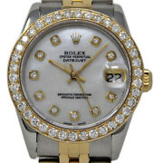 Rolex Datejust 68273 31mm Steel Gold White Mother Of Pearl Diamond 2yrwty1041-1