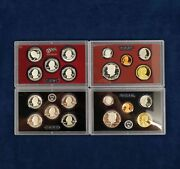 2010+2011 Partial Us Mint Silver Proof Sets Without Boxes - Free Shipping Usa