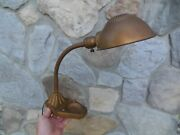 Vintage Rex Electric Co Table Industrial Lamp Cast Iron Base Works Nice