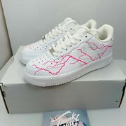 Nike Air Force 1 Low Drip Creationz Pink Lightening Af1 Size Menand039s 6 Womenand039s 7.5