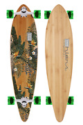 40 Pintail Bamboo Longboard Paradise Graphic -180mm Silver- 70mm Wheels