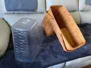 Longaberger Step It Up Odds And Ends Stair Step Basket + Protector, 2000