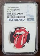 2021 Ngc Pf 69 Gibraltar 10 Grams Silver The Rolling Stones Error Label