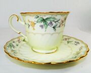 Noritake Bone China Brookhollow 4704 Gold Trim Coffee Cup And Saucer No Fading