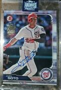 2020 Topps Archives Juan Soto On Card Auto /99