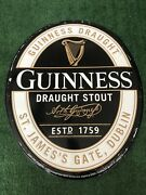 """2016 Guinness Draught Stout Beer Tin Sign New Old Stock Metal Tacker 23""""x19"""""""