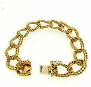 Vintage Bracelet Yearsand039 70 Made In Italy Gold Solid 18k Semi-rigid Jersey