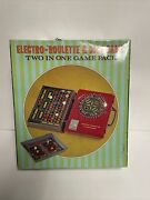 Vintage Electro Roulette Game And Craps Two In One Game Pack In Carry Case W/ Box