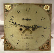 Antique 18th Century Georgian Tall/long Case/grandfather Clock Movement And Dial