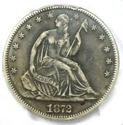 1872-cc Seated Liberty Half Dollar 50c Coin - Certified Pcgs Xf Details Ef