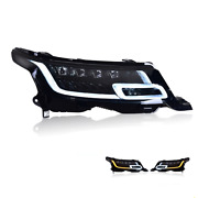 For Range Rover Led Headlights Led Drl 14-17 Replace Oem Headlight Sequential
