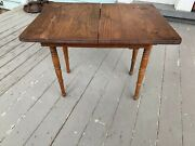 Antique Victorian Doll Dining Room Extending Table W/2 Leaves Oak C. 1900