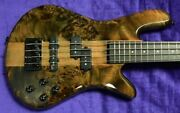 Spector Ns Ethos 4-string Faded Black Gloss Over Poplar Burl With Rosewood...