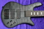 Spector Euro 5lx Trans Black Stain Matte With Rosewood And Emgand039s