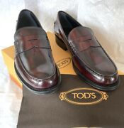 Todand039s Italy Bordeaux Leather Loafers Shoes Mocassino College Gomma Classico