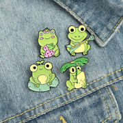 Strawberry Frog Brooch Lotus Leaf Frog Guitar Pin Unisex Backpack Badge Jewelry