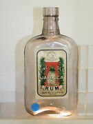 Antique Fine Old Jamaica Rum Adelaide Wine And Spirit Co Flask Old Bottle 1920and039s