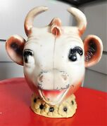 Elsie The Cow Cast Metal Bank Bordenand039s Dairy Rare Collectible Vintage