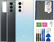 Original Lg Wing F100 5g Back Glass Replacement Battery Cover+tools Gray
