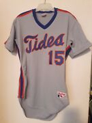 Ny Mets 1989 Aaa Tidewater Tides Tom O' Malley Game Used Away Jersey 15 Team Coa