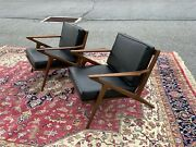 Superb Pair Of Danish Midcentury Modern Z Chairs By Poul Jensen For Selig 1950's