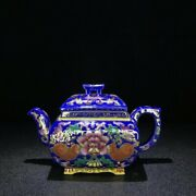 Marked Old Chinese Yixing Zisha Pottery Carved Tea Pot Teapot Kettle Zshz