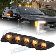 5x Black Smoked Lens Amber Led Cab Roof Marker Running Lights For Truck Suv 4x4