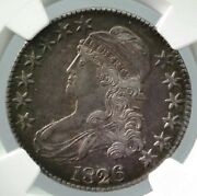 Usa 50 Cent Silver Coin 1826 13.48g Ngc Au 55 Free Shipping From Japan 115nn