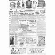 Victorian Adverts Silver Ware, Coventry Machinists Cycles Etc - Old Print 1887