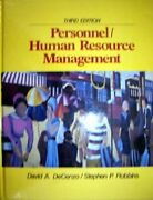 Personnel/human Resource Management By David A. Decenzo And Stephen P. Robbins