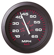 Marine Boat Amega Domed Speedometer Kit 50 Mph And Pitot