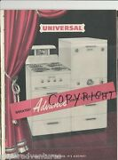 1950 Universal Kitchen Appliances Ranges Ovens Stoves Hot Water Washers Catalog