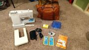 Vintage Singer Stylist 834 Sewing Machine W/ Foot Pedal, Carry Bag, More 1978