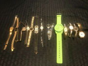 Vintage Lot Of 13 Ladies Wrist Watches Seiko, Waltham And More