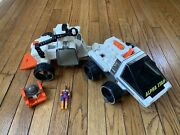1983 Fisher Price Adventure People Alpha Star Space Vehicle And Trailer Robot