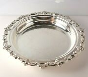 Towle El Grandee Silverplate Footed Tray 2934, Chased Designs On The Inside
