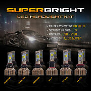 Bulk Sale - 80w Canbus Cree Led Headlight Lot 5/10/25 Pairs - Kit From 19.19