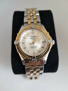 Breitling Perpetual Sirius Womenand039s Watch Steel/gold D62021 W/ Papers Worth 5k