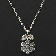 And Co. Garden Flower Pendant Necklace Platinum 950 Tf2898