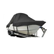 Tidewater 180cc Adventure Center Console T-top Hard-top Fishing Boat Cover Black