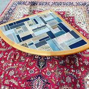 A Vintage Mid Century Danish Teak And Tile Topped Coffee Table By Sallingboe 1980s