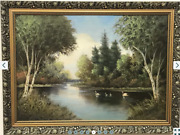 Rare 1932and039s Vintage Antique Original Canvas Old Oil Painting Germany Signed