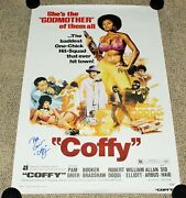 Pam Grier Signed And039coffyand039 27x40 Full-size F/s Movie Character Poster Coa Actress