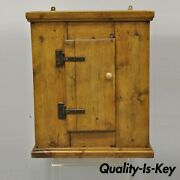Antique French Provincial One Door Reclaimed Wood Wall Cabinet Cupboard Pantry