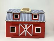 Melissa And Doug Fold And Go Wooden Barn Toy Play Set Farm No Animals Or Fencing