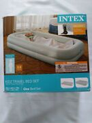 Intex Kids Travel Airbed Mattress With Hand Pump Camping Bed New