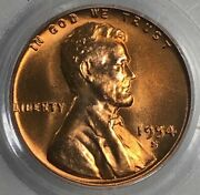 1954 S Pcgs Ms66 Rd Lincoln Wheat Cent 1c Rare Obscene Lustrous Red Gem