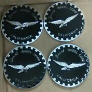 2.5andrdquo 2 1/2andrdquo Zenith Wire Wheel Corp. Chips Emblems Set Of 4 Black And Chrome Metal