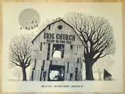 Eric Church Poster 2017 Louisville, Ky Signed/ Ap Edition Rare Sold Out