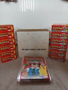 Pokemon Topps Booster 1999 Merlin Case 12 Boxes/1200 Packs + 12 Albums Base Wotc